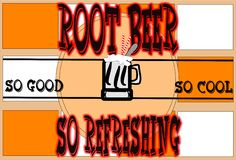 Root beer poster Stock Photos