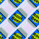 Root beer seamless background design Royalty Free Stock Photos