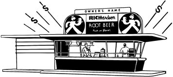 Root Beer Stand Royalty Free Stock Image