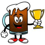 Root Beer with Trophy Stock Image