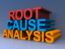 Root cause analysis stock illustration