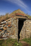 Root Cellar. This cellar was used to store root vegetables to keep warm in the winter and cool in the summer Royalty Free Stock Images