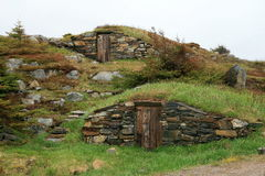 Root Cellars. In Elliston Newfoundland Stock Photos