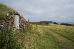 Root Cellars at Elliston Puffin Site in Newfoundland Royalty Free Stock Photos