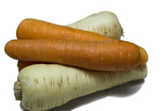Root Crops. Carrots & Turnips for Soup Making Stock Photos