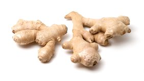 The root of ginger. Isolated on white background Royalty Free Stock Images