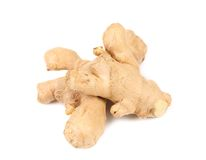 Root ginger isolated on a white Royalty Free Stock Images