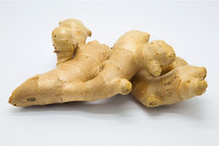 Root ginger on white background. Fresh root ginger on white background, Isolated Royalty Free Stock Photography