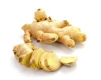 Root ginger  on a white background Stock Photo