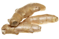 Root ginger on a white background Royalty Free Stock Photos