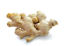 Root ginger  on a white studio background. Stock Images