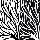 Root pattern illustration for textile and printing royalty free illustration