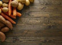 Root vegetable border Stock Image