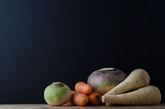 Root Vegetable Still Life Arrangement Royalty Free Stock Photo