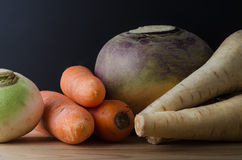Root Vegetables Arranged on Table Stock Photos