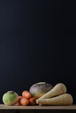 Root Vegetables Still Life Table Arrangement Royalty Free Stock Photos
