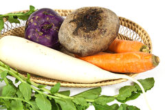 Root vegetables. Used for salad mostly in winter season Stock Photo