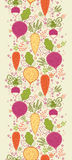 Root vegetables vertical seamless pattern Stock Images
