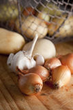 Root veggies and onions Stock Image