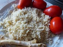 Roots and Grated horseradish. Ingredients  for snack - horseradish, tomato and garlic. Traditional Russian snack. Stock Photography