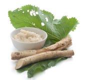 Roots of a horseradish Stock Photos