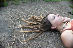 Roots Reflecting Dreadlocks Stock Photos