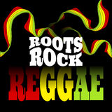 Roots Rock Reggae music design. Vector Stock Photos