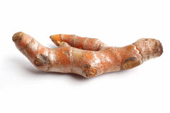 Roots turmeric isolated Stock Images