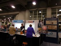 RootsTech 2016. The world`s largest family history and technology annual conference. Salt Lake City, Utah, February 4-6, 2016. Salt Lake Palace, Downtown Salt stock photos