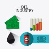 Rop naftowych i oleju industric infographic Obraz Royalty Free