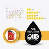 Rop naftowych i oleju industric infographic Fotografia Royalty Free