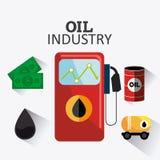 Rop naftowych i oleju industric infographic Zdjęcie Stock