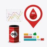 Rop naftowych i oleju industric infographic Obrazy Stock
