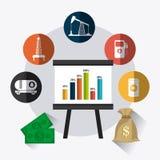 Rop naftowych i przemysłu paliwowego infographic projekt Obraz Royalty Free