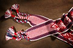 Ropa étnica de vikingo del modelo del bordado Imágenes de archivo libres de regalías