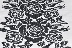 Ropa bordada del hilo negro cruzado Imagen de archivo libre de regalías