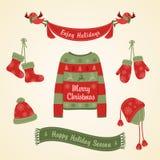 Ropa caliente para la Navidad stock de ilustración