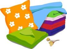 Ropa de cama del color Fotografía de archivo libre de regalías