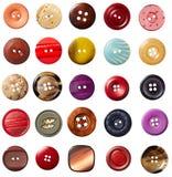 Ropa de costura del botón Fotografía de archivo