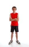 Ropa de la gimnasia de los deportes del adolescente del muchacho que desgasta Fotos de archivo