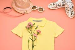Ropa de la muchacha del inconformista de la moda fijada Diseño de la primavera Fotos de archivo libres de regalías