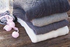 Ropa de lana Imagen de archivo libre de regalías