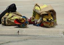 Ropa de los bomberos Fotos de archivo libres de regalías