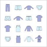 Ropa de los hombres La ropa de los hombres para el hogar Ropa interior para los hombres Fotos de archivo libres de regalías