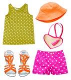 Ropa de moda brillante del verano del bebé fotos de archivo libres de regalías