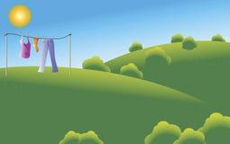 Ropa de sequía Ilustración del Vector