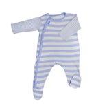 Ropa del bebé azul aislada Fotos de archivo libres de regalías