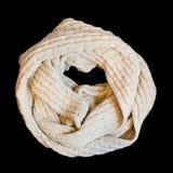 Ropa del blanco de la bufanda Imagen de archivo