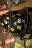 Ropa del bombero Foto de archivo libre de regalías