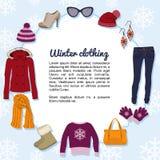 Ropa del invierno Stock de ilustración